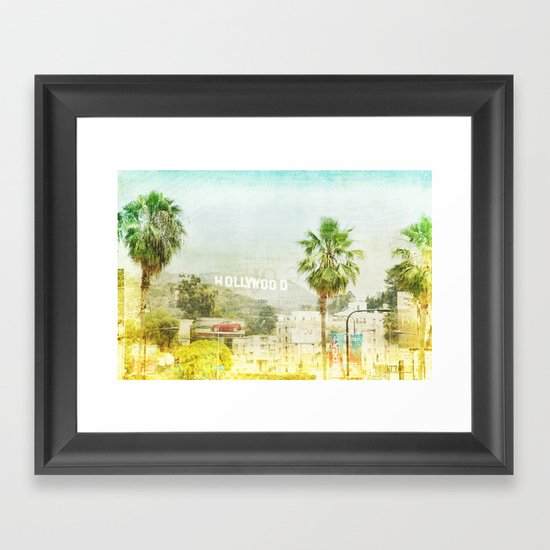 Dreams of many, nightmare of most _ hollywood sign Framed Art Print
