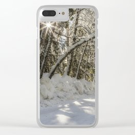 Covered in White Clear iPhone Case
