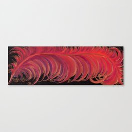 Fiery Feather Canvas Print