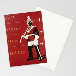 retro poster sabena verso londra con la sabena Stationery Cards