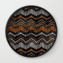 Handpainted Boho, Fall Wall Clock