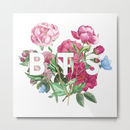 BTS Flowers Metal Print