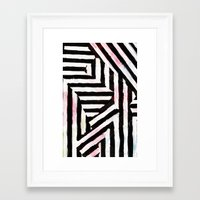 striped Framed Art Prints featuring Striped by ST STUDIO