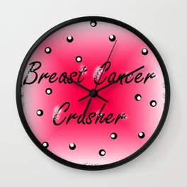 Breast Cancer Crusher Wall Clock