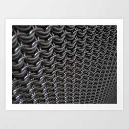 UberDwarf Chainmaille Weave at an Angle Art Print