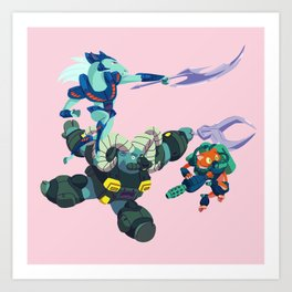 Battle Beasts - Trio 1 Art Print