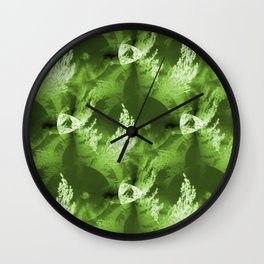 Holiday trees in Outer Space... Wall Clock