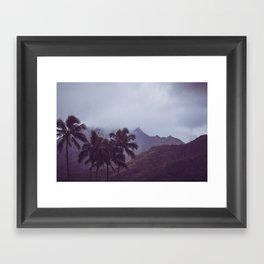 Misty Mountains - Kauai, Hawaii Framed Art Print