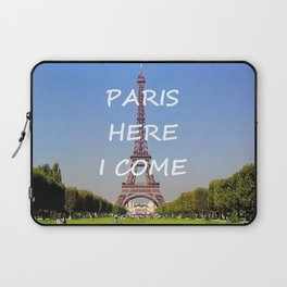 Paris Here I Come Laptop Sleeve