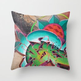 """Dances with waves"" Throw Pillow"