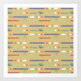 Geometrical Cacti Art Print