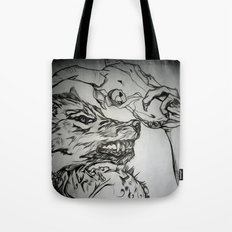 Pullin the Wolf Over My Eyes Tote Bag