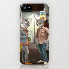 A Cats Night Out iPhone Case