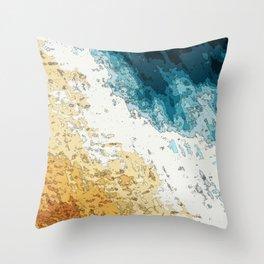 Satellite generative illustration Throw Pillow