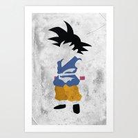 goku Art Prints featuring Goku  by JHTY