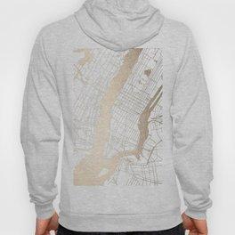 New York City White on Gold Hoody