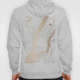 New York City White on Gold Hoody