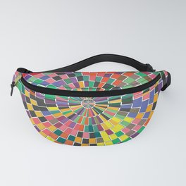 Radial Tiles Spectrum Sunburst Wall Art Fanny Pack
