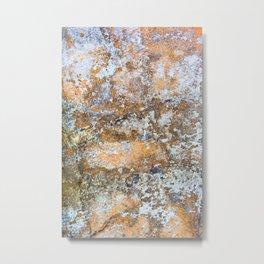 Painted Stone Metal Print