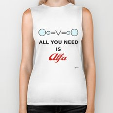 All You need is Alfa (WHITE) Biker Tank