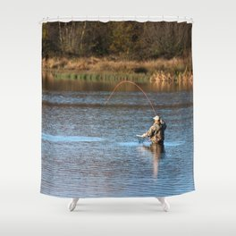 Gone Fishing 2 Shower Curtain