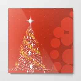 Red Christmas Background Metal Print