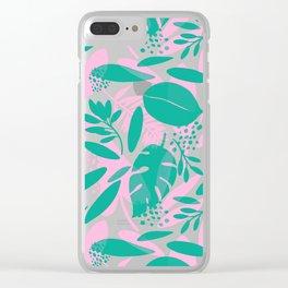 Floral Botanical Illustration Clear iPhone Case