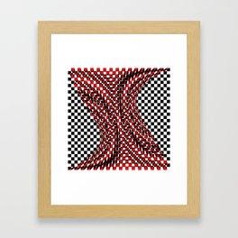 black white red 4 Framed Art Print