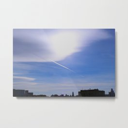 The shadow of the contrail Metal Print