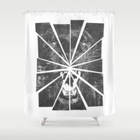 panther Shower Curtains featuring PANTHER by TOO MANY GRAPHIX