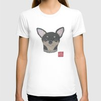 chihuahua T-shirts featuring CHIHUAHUA by Bless Hue