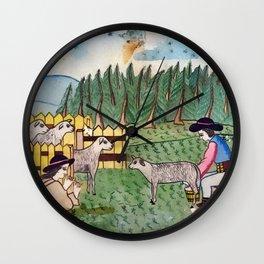 BETHLEHEM PROSPECTUS 2 (Painted Shed) Wall Clock