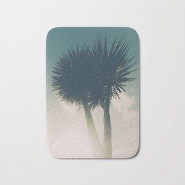 Sun blasted Palm trees Bath Mat