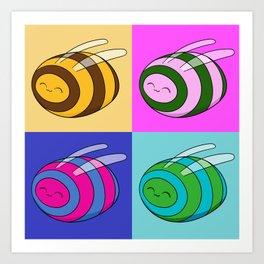 Bee POP ART Art Print