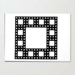 Fractal 4 x 4 Square with one layer. Fith Iteration. Canvas Print