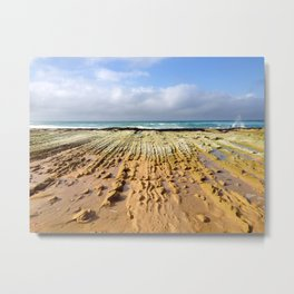 St. Andrews Beach Ocean Rock Ridges Metal Print
