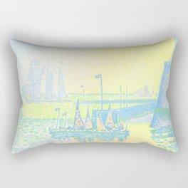 "Paul Signac ""Evening (The Jetty of Vlissingen) (Abend-La jetée de Flessingue)"" from the journal Pan Rectangular Pillow"