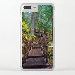 Giant Cedars Boardwalk in British Columbia, Canada Clear iPhone Case
