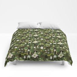Indoors & outdoors (green camo) Comforters