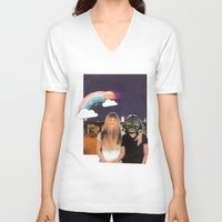 friendship V-neck T-shirts featuring Friendship by SaschaDee
