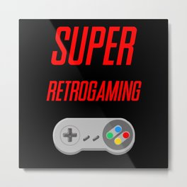 SUPER RETROGAMING Metal Print