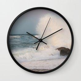 Rough sea Wall Clock