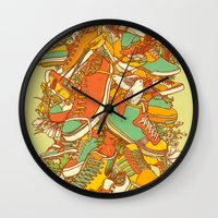 shoe Wall Clocks featuring If the Shoe Fits by Alvaro Arteaga