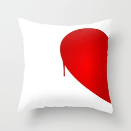 Half Heart Woman Throw Pillow