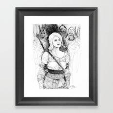 Ciri fan art Framed Art Print
