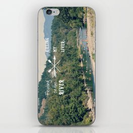 Floating on the River iPhone Skin