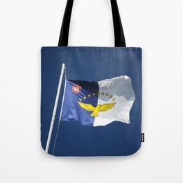 Flag of Azores islands Tote Bag