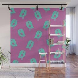 Little Birds (purple) Wall Mural