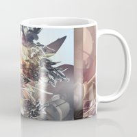 transformer Mugs featuring Avenging Angel by Andre Villanueva