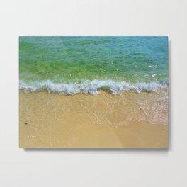 Emerald Shoreline Metal Print